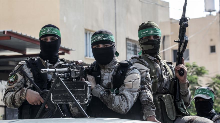 Integrantes del Movimientode Resistencia Islámica dePalestina(HAMAS)en la Franja de Gaza, 17 de octubre de 2019. (Foto: AFP)