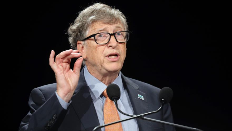 El cofundador del gigante Microsoft, Bill Gates, ofrece un discurso en Lyon, Francia, 10 de octubre de 2019. (Foto: AFP)