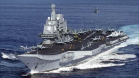 China muestra músculo en el estrecho de Taiwán con su portaviones