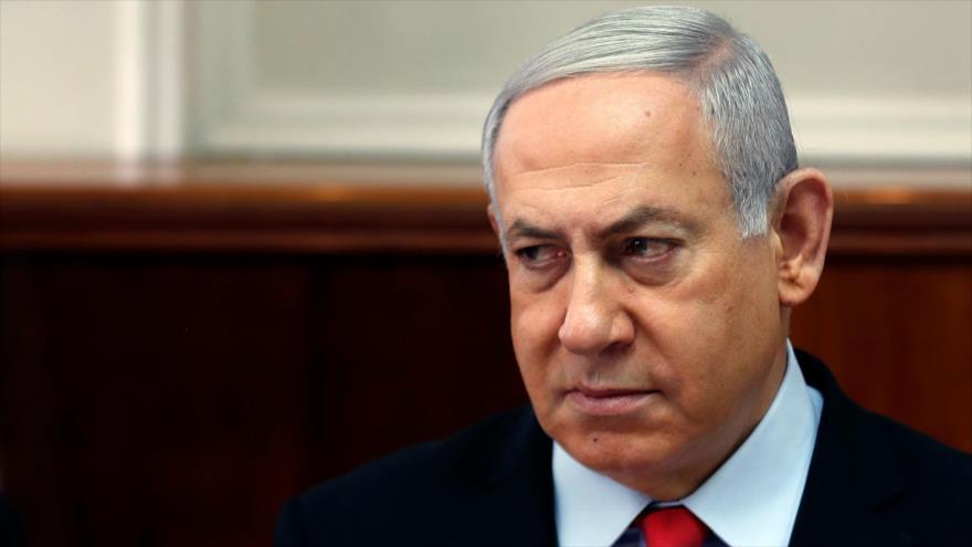 El primer ministro de Israel, Benjamín Netanyahu, en una reunión con su gabinete en Al-Quds (Jerusalén), 13 de noviembre de 2019. (Foto: AFP)