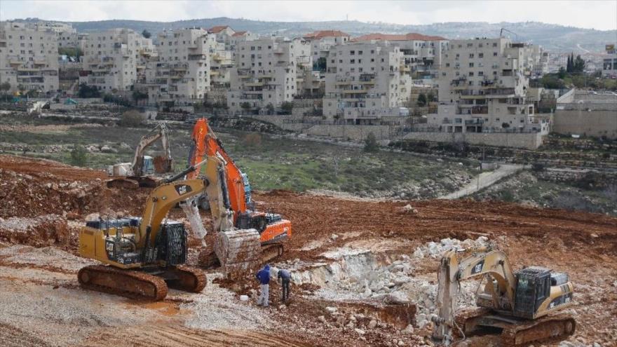 Asentamiento israelí Beitar Illit en la ocupada Cisjordania, 14 de febrero de 2018. (Foto: AFP)