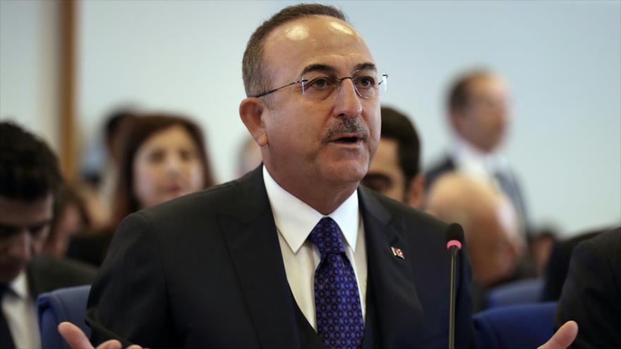 El ministro de Relaciones Exteriores de Turquía, Mevlut Cavusoglu, 18 de noviembre de 2019. (Foto: AFP)