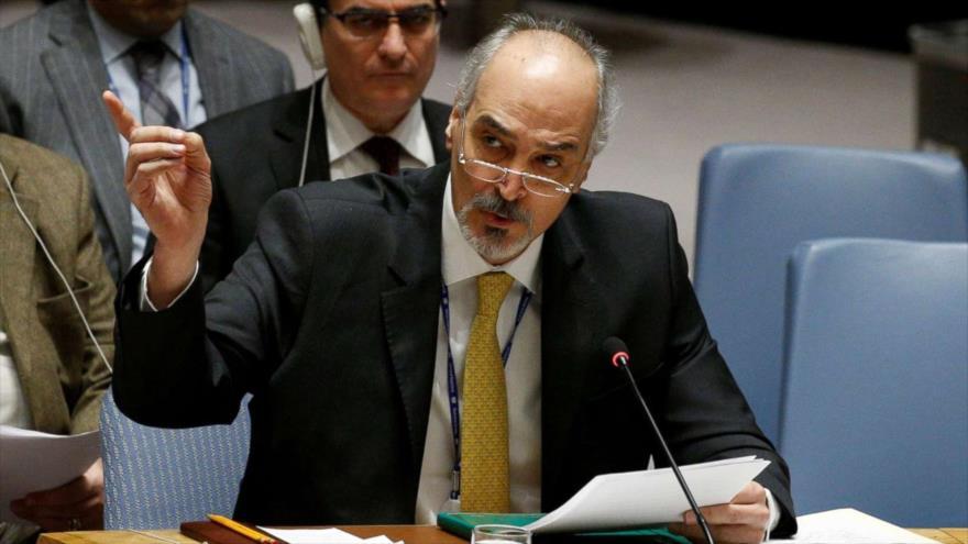 El representante permanente sirio ante la Organización de las Naciones Unidas (ONU), Bashar al-Yafari.