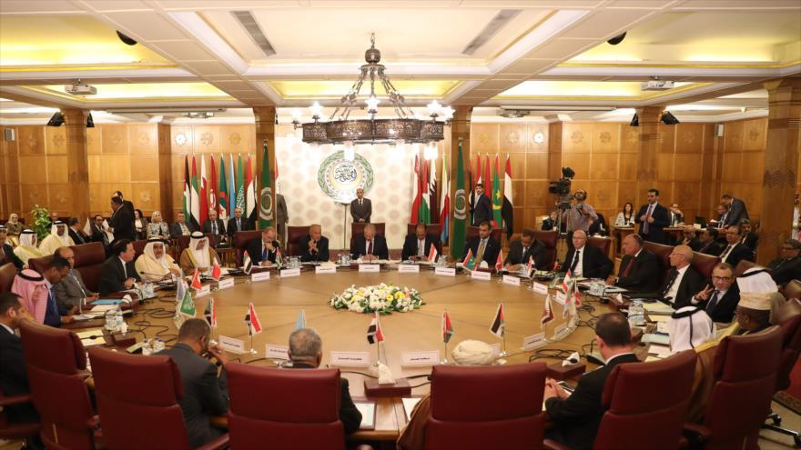 Una sesión de la Liga Árabe celebrada en El Cairo, la capital de Egipto, 12 de octubre de 2019. (Foto: AFP).