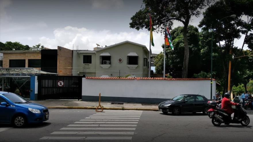 La embajada de Bolivia en Caracas, la capital venezolana.