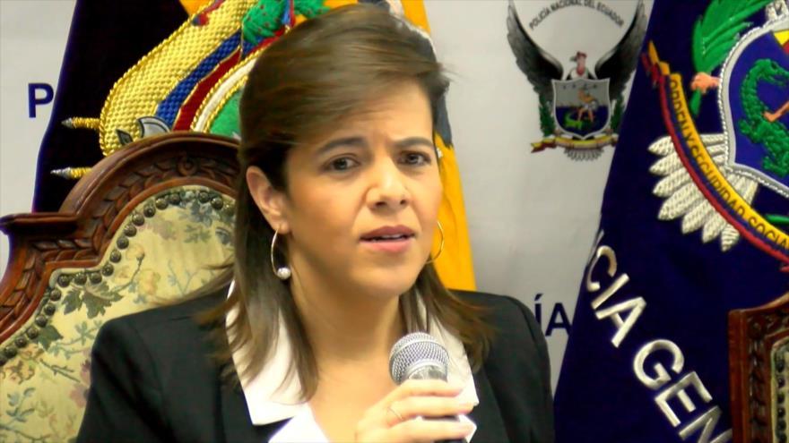 Arranca juicio político contra la ministra de Gobierno de Ecuador