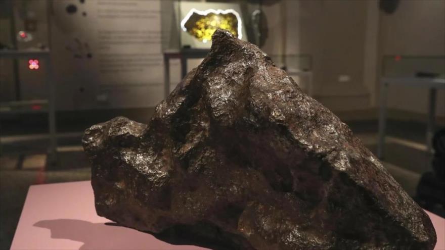 Un meteorito en el Museo de San Pedro, en el desierto de Atacama, sita en el norte de Chile.