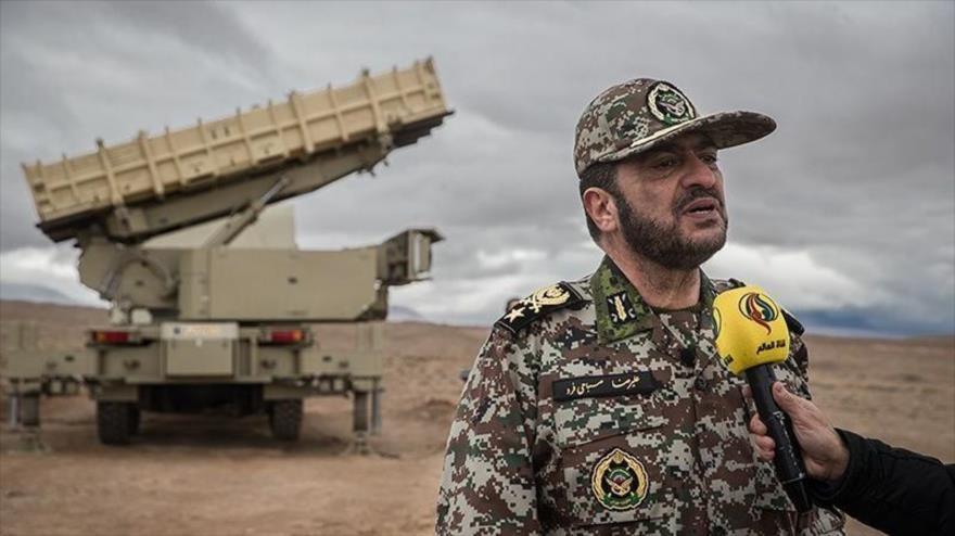 El comandante de la Fuerza de Defensa Antiaérea del Ejército iraní, Alireza Sabahi Fard, provincia de Semnan, norte de Irán, 21 de noviembre de 2019.