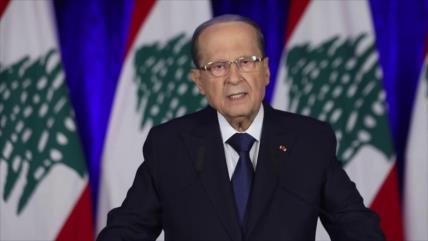 Aoun insiste en liberar territorios libaneses de ocupación israelí