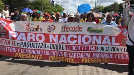 Se realiza masivo paro nacional en Colombia