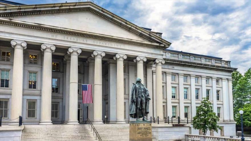Edificio del Departamento de Tesoro de EE.UU. en Washington, la capital.