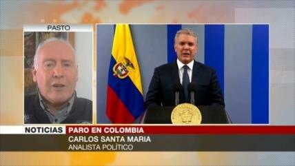'Colombianos protestan y piden el fin de injusticia social'