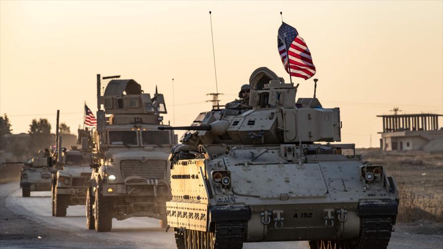 Vehículos militares de EE.UU. cerca de la ciudad de Tal Tamr, provincia de Al-Hasaka, 10 de noviembre de 2019. (Foto: AFP)