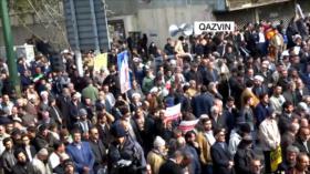 Miles de iraníes reafirman su apoyo a la estabilidad en el país