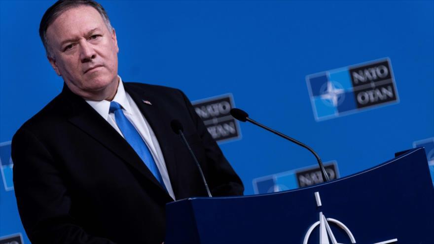 El secretario de Estado de EE.UU., Mike Pompeo, ofrece un discurso en Bruselas, 20 de noviembre de 2019. (Foto: AFP)