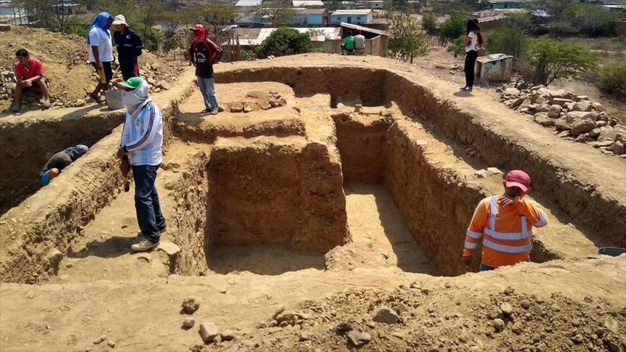 Una visión general del templo hallado en el norte de Perú.