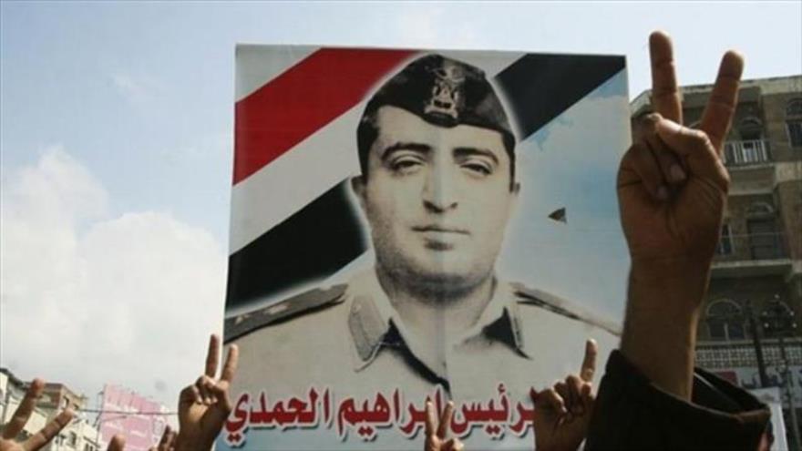 Fotografía del presidente asesinado de Yemen del Norte Ibrahim al-Hamdi.