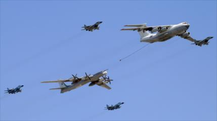 Cazas de Corea del Sur y Japón persiguen a dos bombardeos rusos