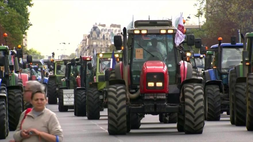 Agricultores franceses protestan para demandar mejores precios