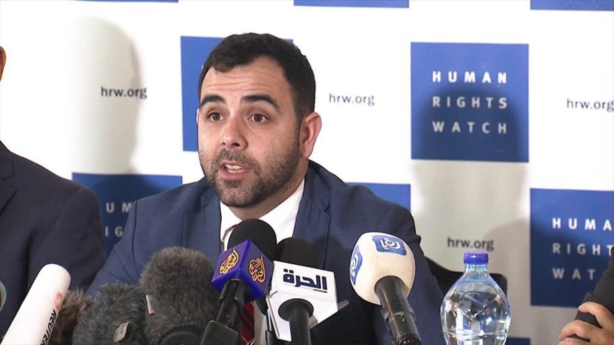 Omar Shakir, representante de la organización pro derechos humanos Human Rights Watch (HRW) en los territorios ocupados palestinos.