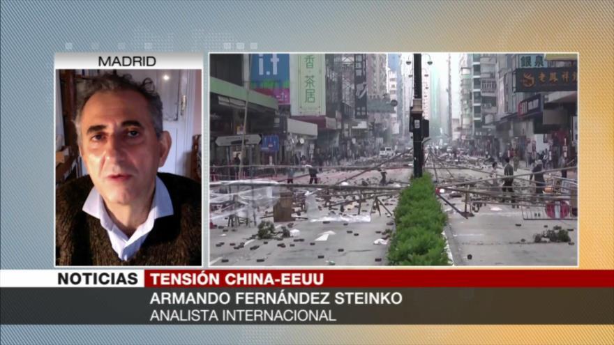'China ve como una provocación injerencia de EEUU en Hong Kong'