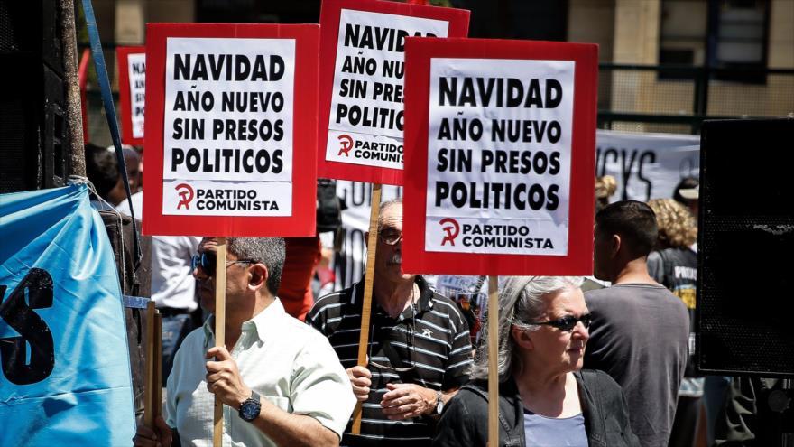 Argentinos claman por libertad de exfuncionaros kirchneristas