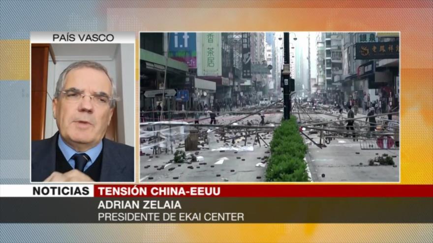 'Con Hong Kong, EEUU busca mantener su hegemonía ante China'