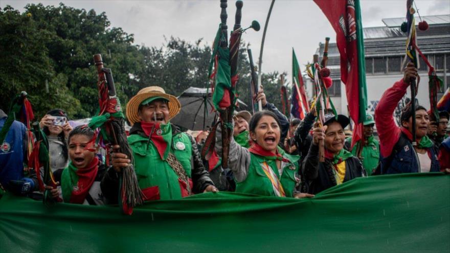 Indígenas se suman a las marchas y critican las políticas de Duque | HISPANTV