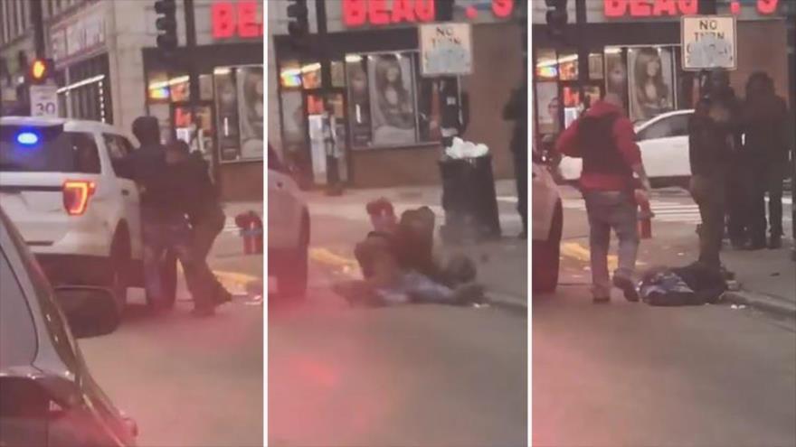 Vídeo: Un policía de EEUU golpea a un hombre negro en pleno día