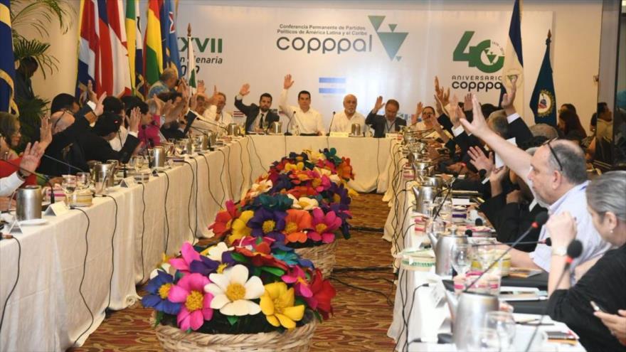 Asamblea Plenaria de La Conferencia Permanente de Partidos Políticos de América Latina y el Caribe, celebrada en Nicaragua (Foto: Prensa Latina)