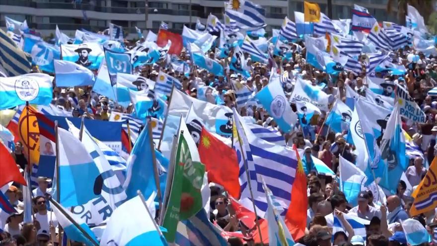 Partido Nacional celebra el triunfo en las elecciones de Uruguay