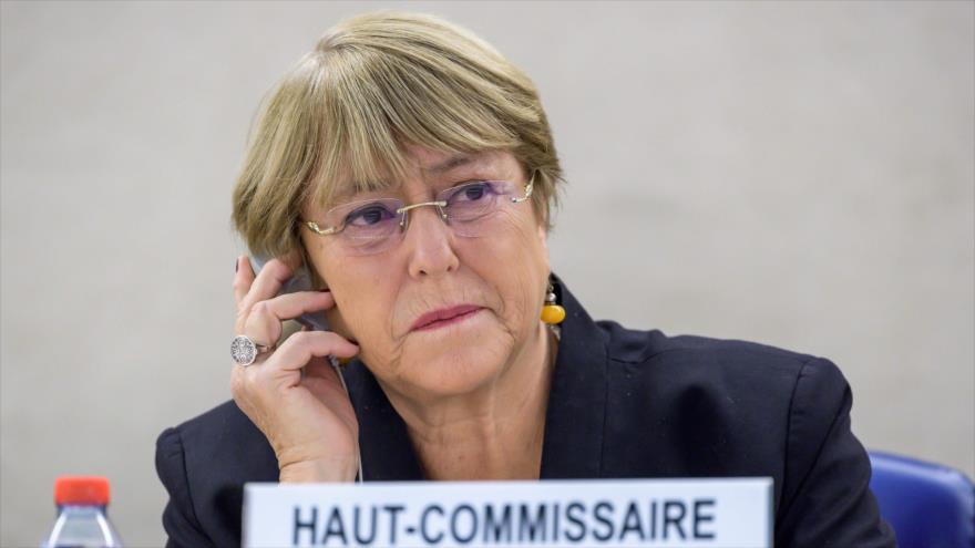 La alta comisionada de las Naciones Unidas para los Derechos Humanos, Michelle Bachelet, en Ginebra, 9 de septiembre de 2019.