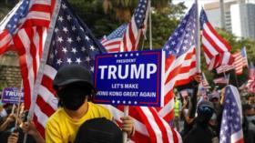 Las nuevas manifestaciones en Hong Kong agradecen a Trump