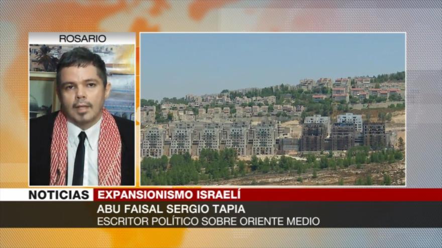 Tapia: EEUU anima con su apoyo a Israel a continuar sus crímenes