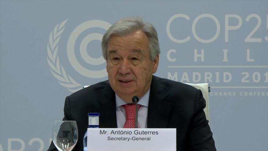 Guterres pide la acción mundial para evitar crisis climática