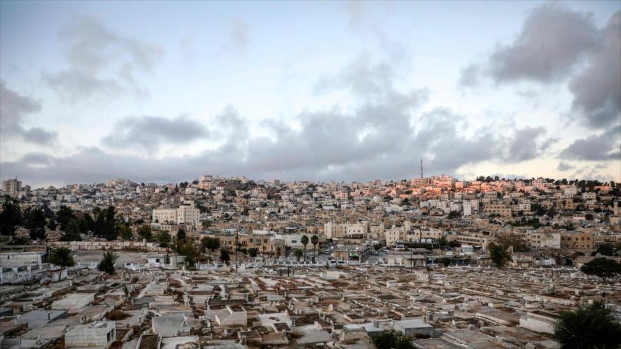 El lugar donde Israel planifica construir colonias ilegales en la ciudad de Al-Jalil, en la Cisjordania ocupada, 1 de diciembre de 2019. (Foto: AFP)