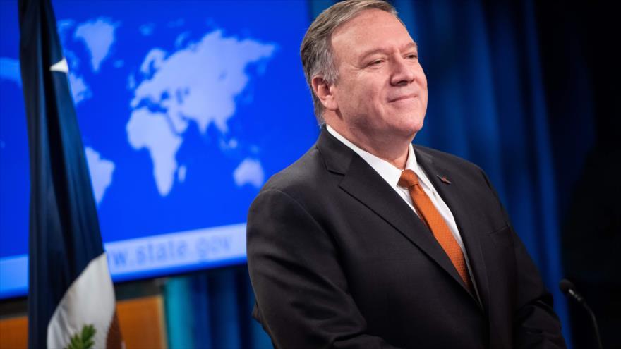 El secretario de Estado de EE.UU., Mike Pompeo, en una rueda de prensa en Washington, 26 de noviembre de 2019. (Foto: AFP