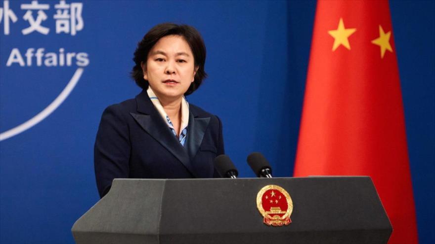 La portavoz del Ministerio de Exteriores de China, Hua Chunying.