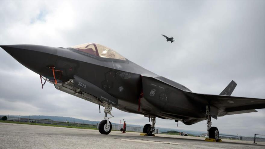 Cazas furtivos F-35 de fabricación estadounidense.