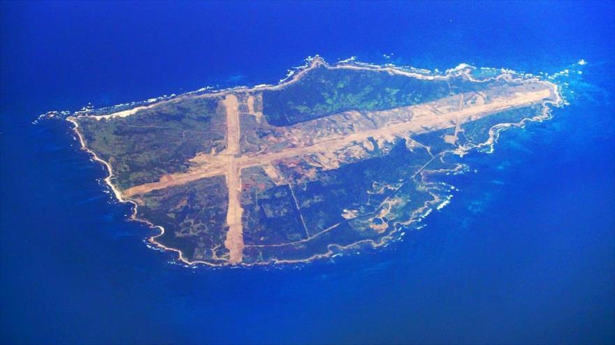 Una vista aérea de la isla Mageshima, que el Gobierno japonés ha comprado para las maniobras de EE.UU.