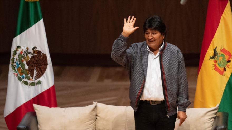 El depuesto presidente de Bolivia Evo Morales, en un acto celebrado en México, 26 de noviembre de 2019. (Foto: AFP)