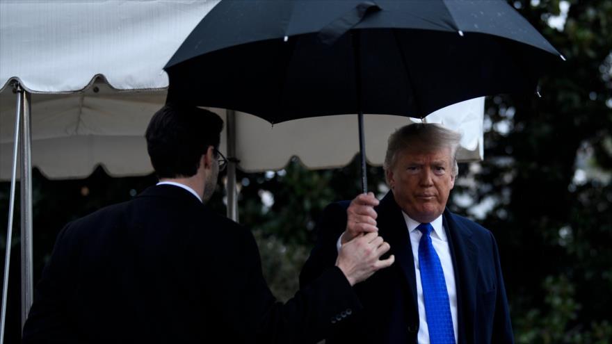 El presidente de EE.UU., Donald Trump, en los jardines de la Casa Blanca, 2 de noviembre de 2019. (Foto: AFP)