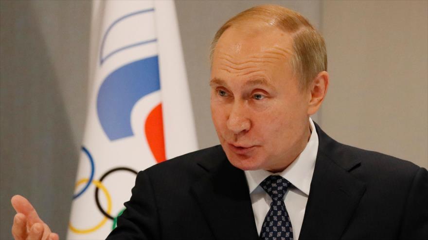 El presidente ruso, Vladimir Putin, pronuncia un discurso en un acto en Sochi, Rusia, 3 de diciembre de 2019. (Foto: AFP)
