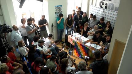 Delegación argentina denuncia golpe contra Morales en Bolivia