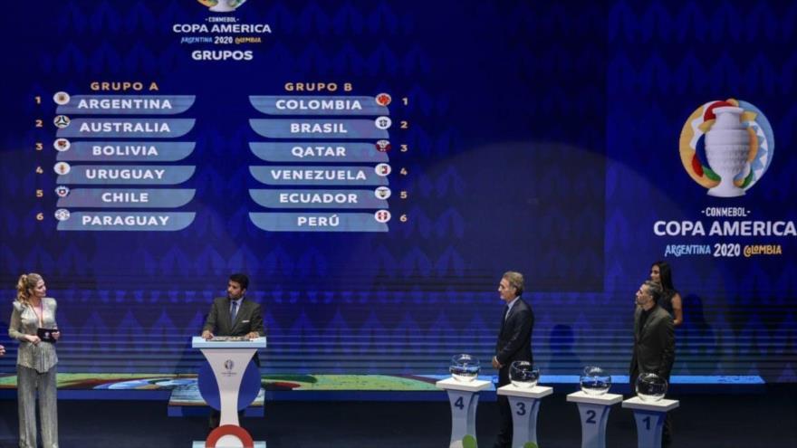 La ceremonia del sorteo de la Copa América 2020, celebrada en el Centro de Convenciones de Cartagena, Colombia, 3 de diciembre de 2019. (Foto: AFP)