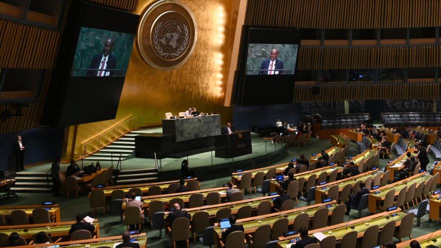 Una sesión de la Asamblea General de las Naciones Unidas (AGNU) en Nueva York (EE.UU.), 30 de octubre de 2019. (Foto: AFP)