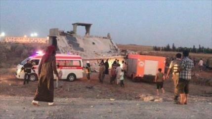 Mueren ocho niños por ataque de terroristas a un gimnasio en Alepo