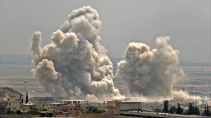 Rusia lanza intensos bombardeos contra blancos terroristas en Idlib