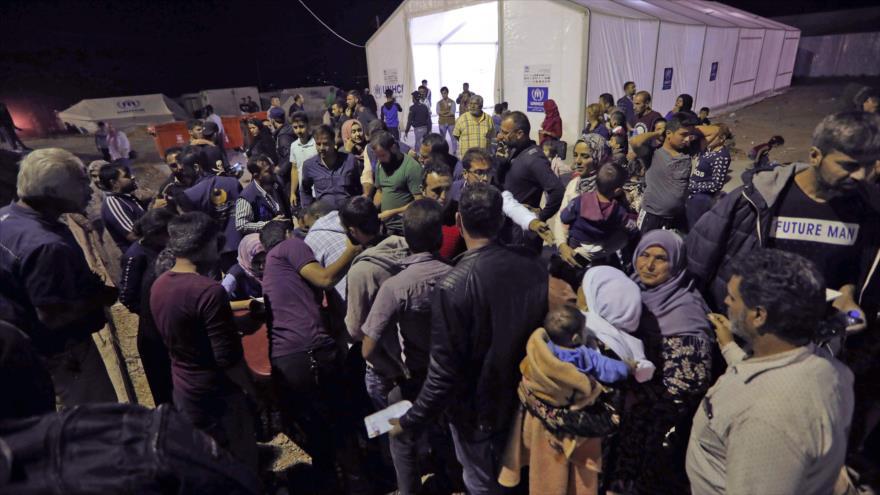 Refugiados sirios en el campamento de Bardarash, cerca de la ciudad kurda de Dohuk, en la región autónoma kurda de Irak, 20 de octubre de 2019.