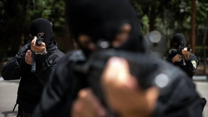 Fuerzas iraníes de seguridad en una misión.